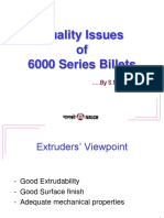 Quality of Billets from Extruders' Point of View