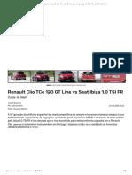 Renault Clio TCe 120 GT Line vs Seat Ibiza 1.0 TSI FR