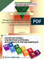 Managementul aplicării documentației școlare