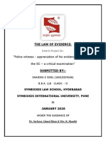 Law of Evidence - Interim