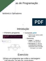 Tecnincas de Prigramaçao c/ Python