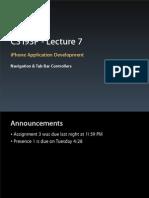 Lecture 7 Slides (April 22, 2009)