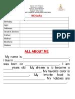 biodata pupils