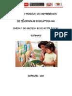 Plan de Distribución de materiales  educativo  2020
