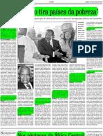 Celestine Monga - Caridade não tira países da pobreza (in ''O Globo'', Prosa & Verso, 20 Nov 2010)