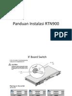 Panduan Instalasi RTN900
