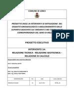 PROGETTO ESECUTIVO geotecnico