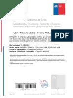 Certificado Estatutos Actualizados Natural Dent abril 2018