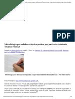 Metodologia para elaboração de quesitos por parte do Assistente Técnico Pericial - Heitor Borba Soluções
