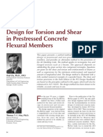 Zia e Hsu - 2004 - Design for torsion and shear in prestressed concrete flexural members
