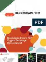 Blockchain Firm's P2p Crypto Exchange Development