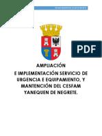 PROYECTO CESFAM YANEQUEN 2019