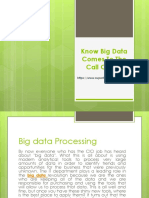 Know Big Data Comes to the Call Center