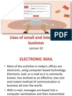 Lec 10 Uses of email and internet in business