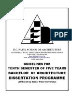 Dissertation Guidelines 15sa Batch