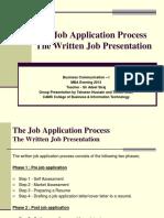 Presentation - The Job Application Process