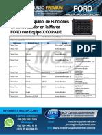 Lista de Funciones Inmovilizador Ford X100 pad2