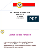 vector-valued function