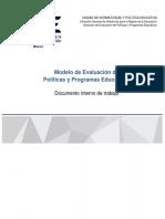 MODELO DE EVALUACIÓN DE POLÍTICAS Y PROGRAMAS EDUCATIVOS