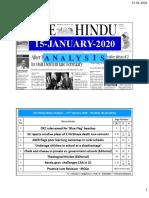 15-01-2020 - Handwritten Notes - Shankar IAS Academy - The Hindu News Analysis