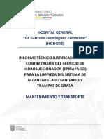 Informe Técnico Justificado Servicio Hidrosuccionador Epmapa 2020