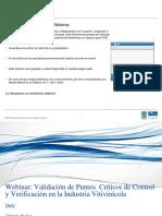 Webinar Validación de Puntos Críticos de Control y Verificación en la Industria Vitivinícola