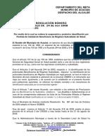 Resolución Municipal No. 616 de 2008