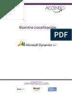 Accendo Nuestra Localizacion Microsoft Dynamics AX