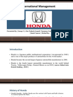Honda International Management