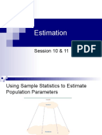 Session 10 & 11 - Estimation