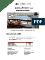 ULTIMO - PAQ. AÑO NUEVO 2020 SARAPAMPA - 03D-02N - PARTICULARES