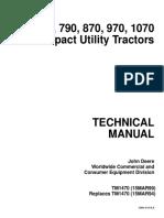 JOHN DEERE 670 770 790 870 970 1070 COMPACT UTILITY TRACTOR Service Repair Manual