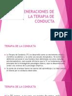 TRES GENERACIONES DE LA TERAPIA DE CONDUCTA 2