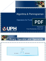 Algoritma & Pemrograman 01 Operators for Fundamental Types v1.1