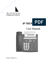 IP705 Phone Reference