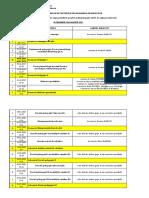 Orar postuniv NIV. 1 cursuri de sinteza si examene
