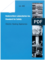 UL_0499_2011 Standard for Safety for Electric Heating Appliances