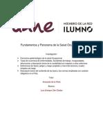 investigacion 1 - Fundamentos y Panorama de la Salud Ocupacional