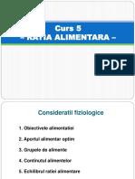 Curs 5- RATIA ALIMENTARA