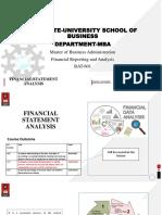 1. Financial Statement Analysis