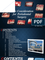 Basic cosideration for periodontal surgery