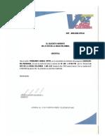 certificado de la voz