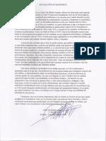 Carta declaración