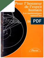 Jean Alexandre Dieudonne - Pour l'Honneur de l'Esprit Humain_ Les Mathematiques Aujourd'Hui (Collection Pluriel) (French Edition)-Hachette (1987)
