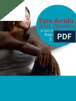 """Para decidir debes informarte """"Mujeres Peruanas y Aborto"""""""