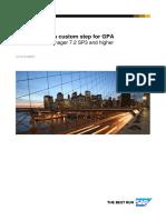 How to create a custom step for GPA_v4