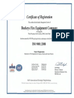 ISO Certification - Buckeye Fire Equip