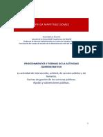 5. PROCEDIMIENTOS Y FORMAS DE LA ACTIVIDAD ADMINISTRATIVA (68 h). p. sancionador