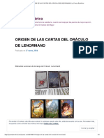 ORIGEN DE LAS CARTAS DEL ORÁCULO DE LENORMAND