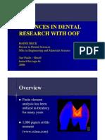 Advances in Dental